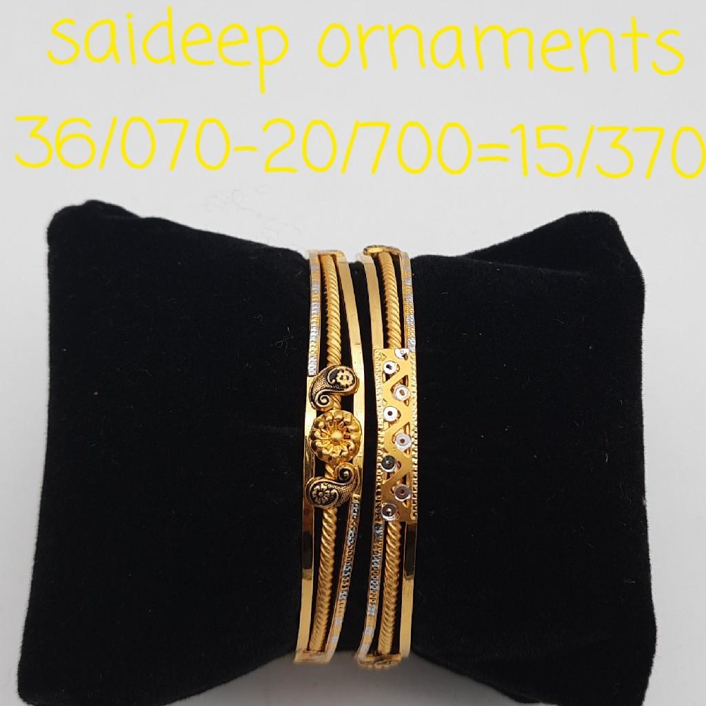 22 kt 916 copper kada bangle design