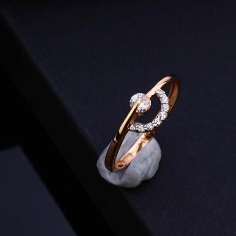 18kt rose gold new Stunning Hallmark Design Ring