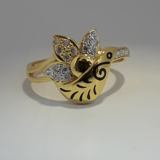 916 Gold fancy carving ladies ring MJ-WX1431