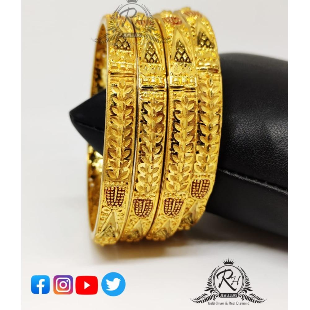22 carat gold latest ladies four bangles rh-LB079