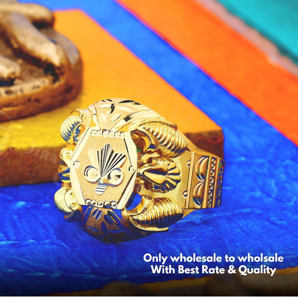 22K Fancy Design Nazaran Gold Ring JAR-017