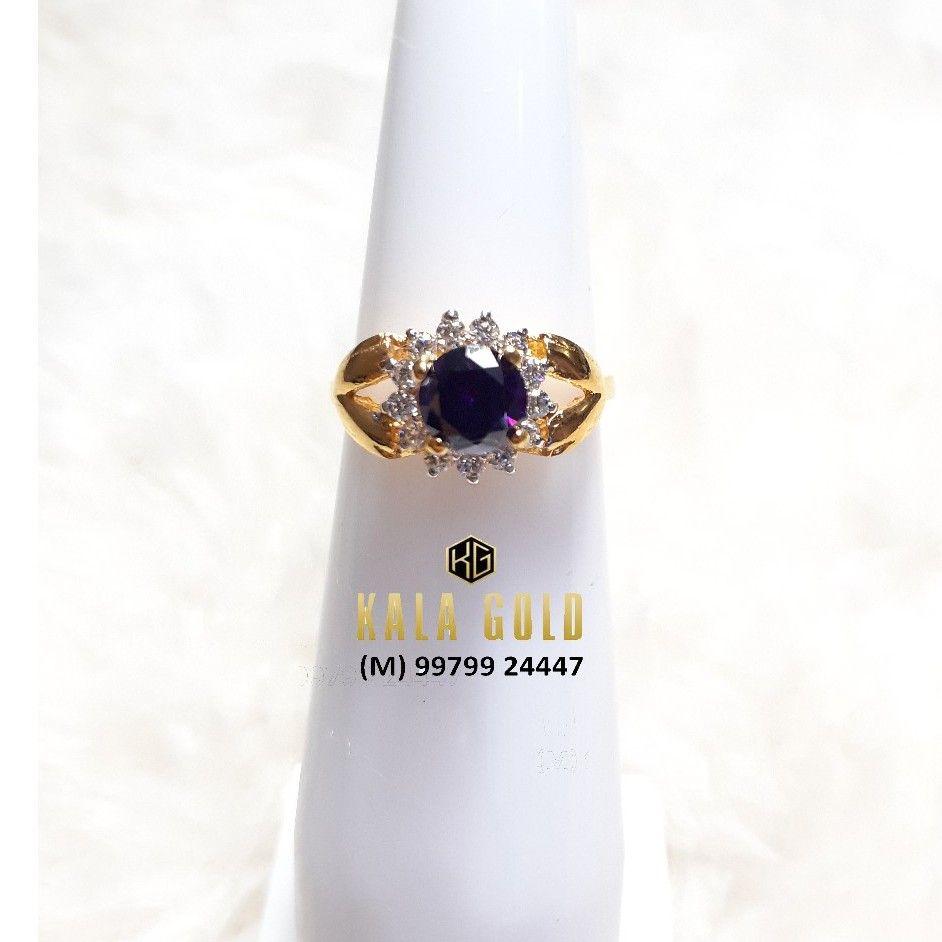 916 Purple Stone Cz Ladies Ring