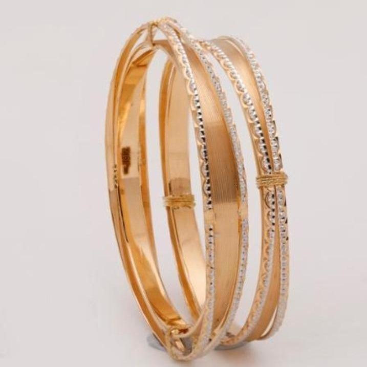 22 kt 916 gold bangle fancy