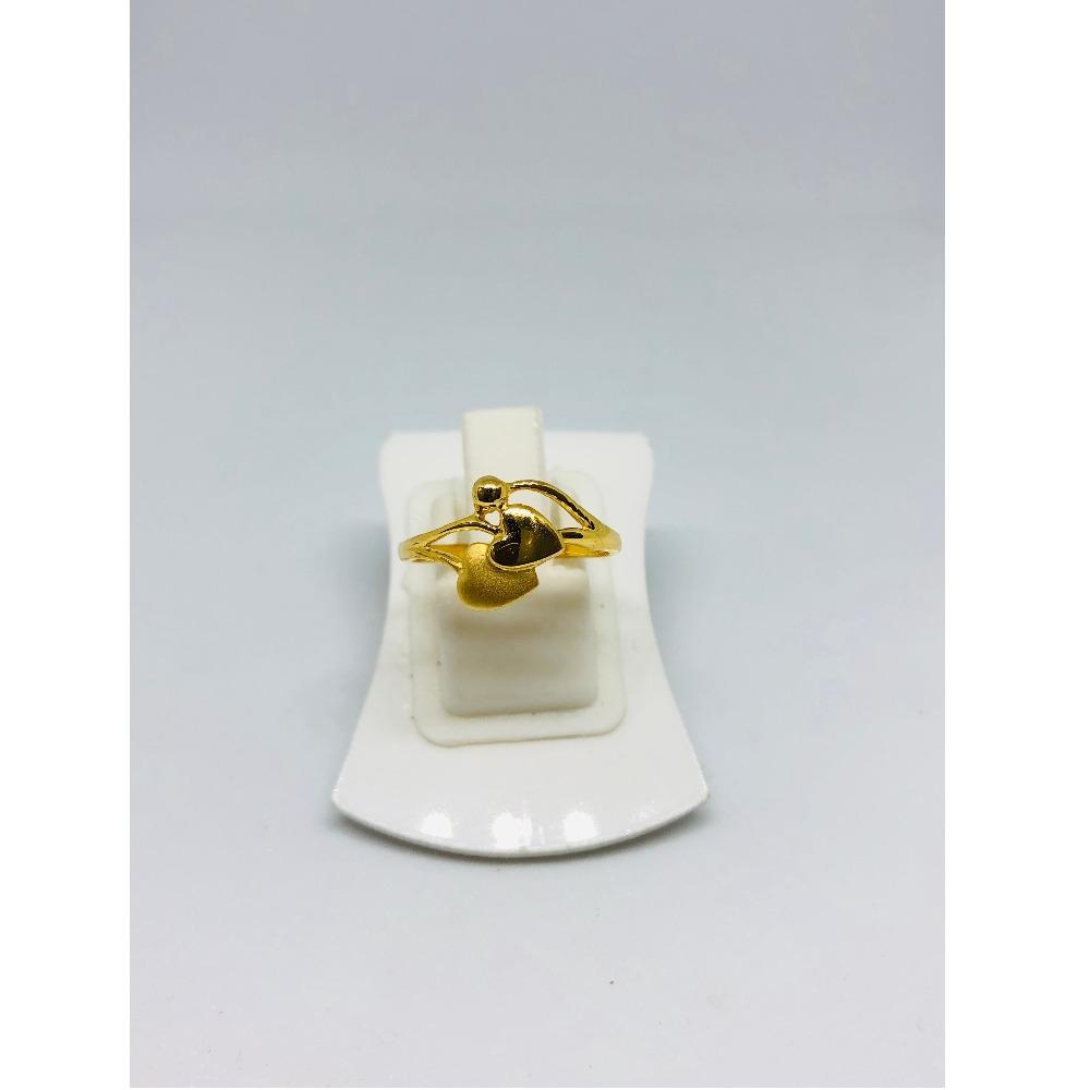 916 Gold Heart Shape Ring For Women KDJ-R013