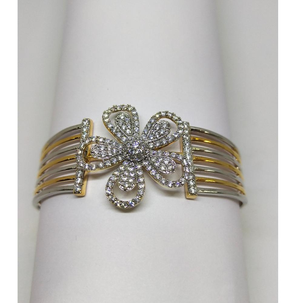 22K platinum and gold polish diamond bracelet