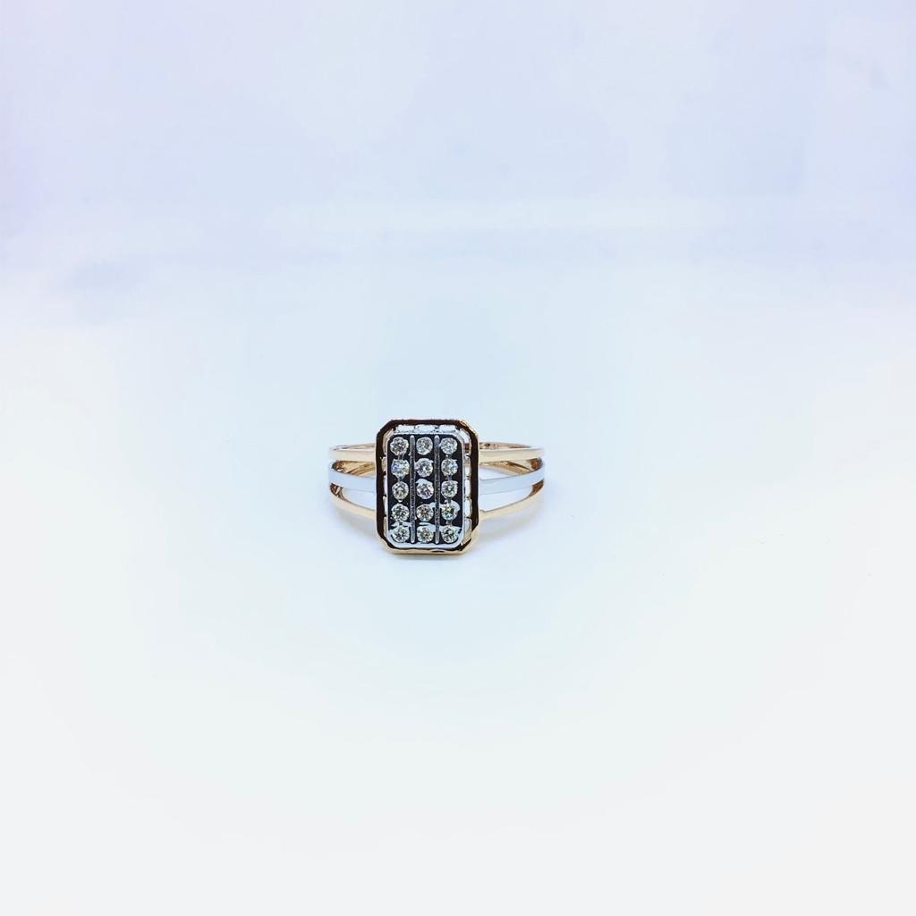 BRANDED FANCY REAL DIAMOND RING