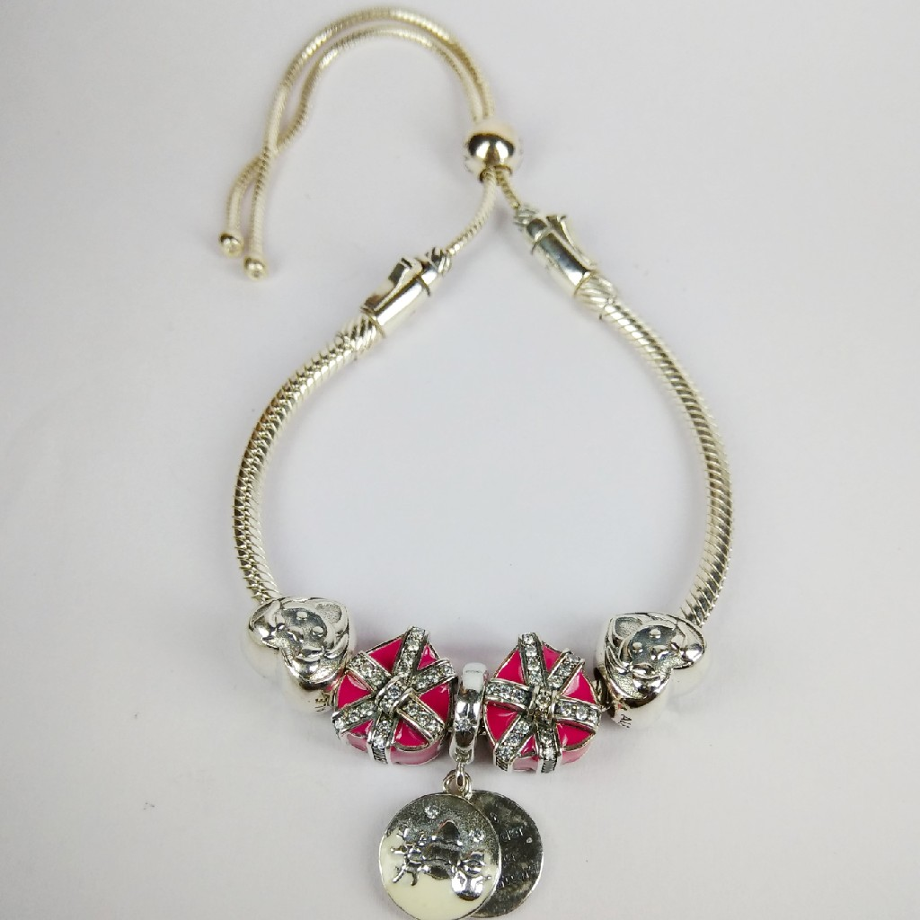 92.5 sterling silver pandora bracelet ml 59