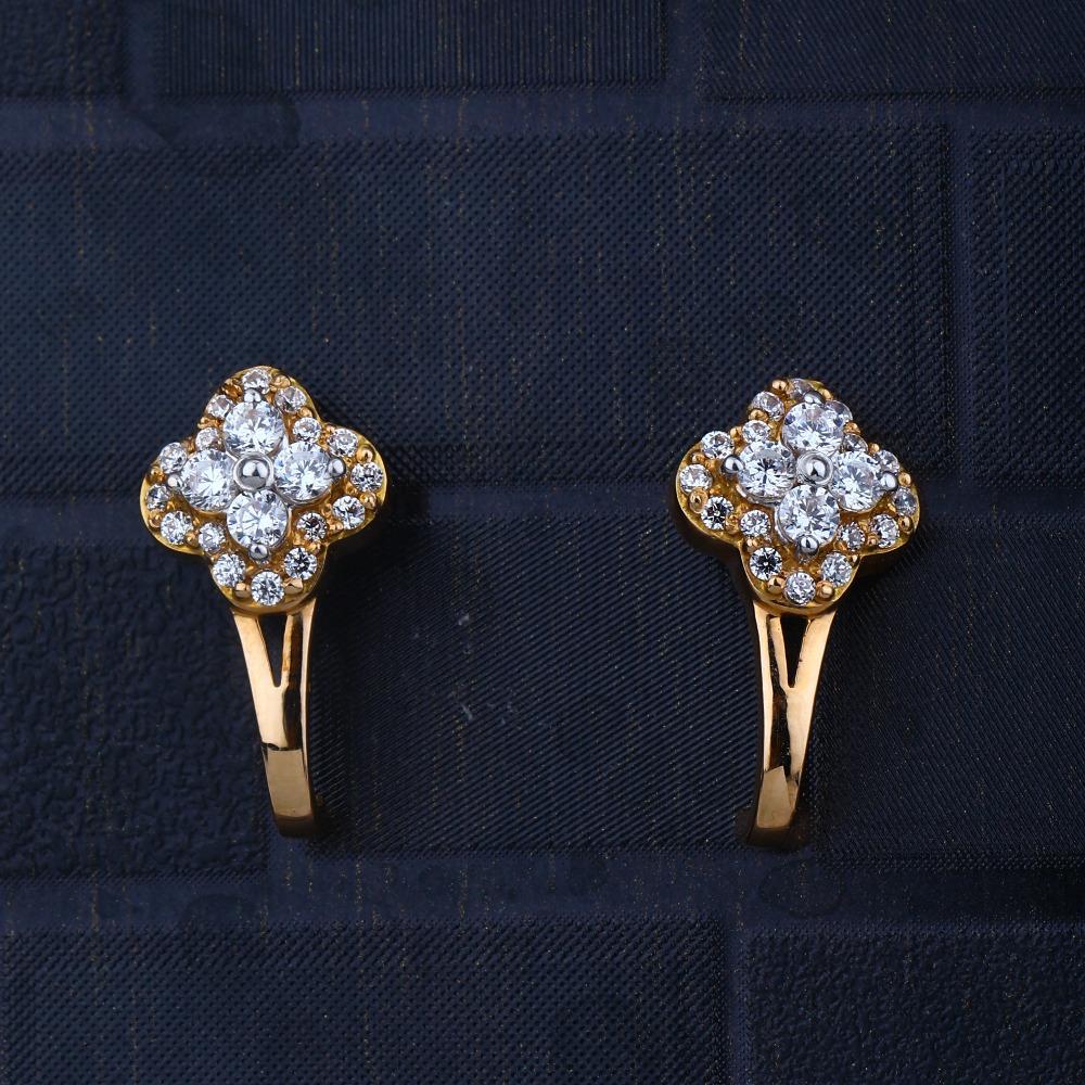 916 gold CZ Ethnic Design Earring