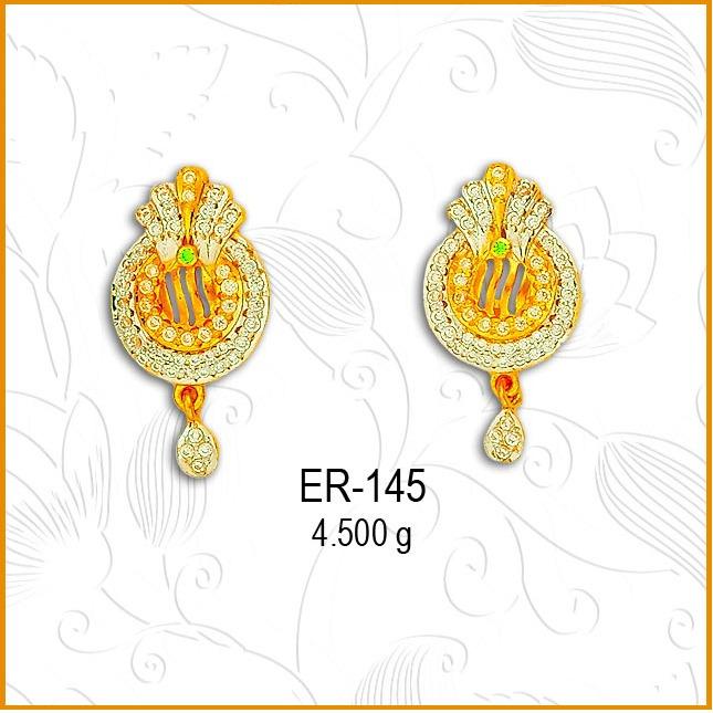 916 Gold CZ Simple Designer Earring ER-145