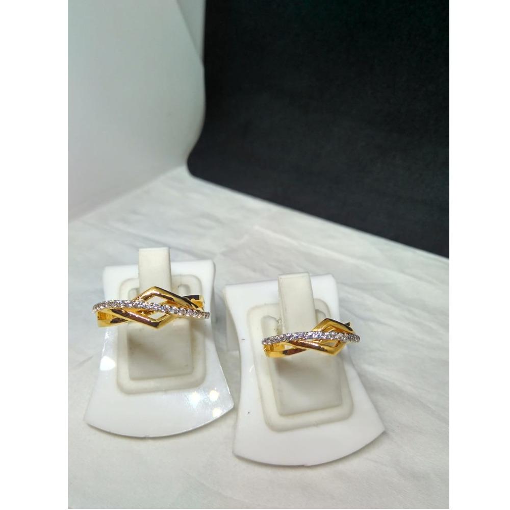 916 gold CZ Designer Couple Ring SG-R001