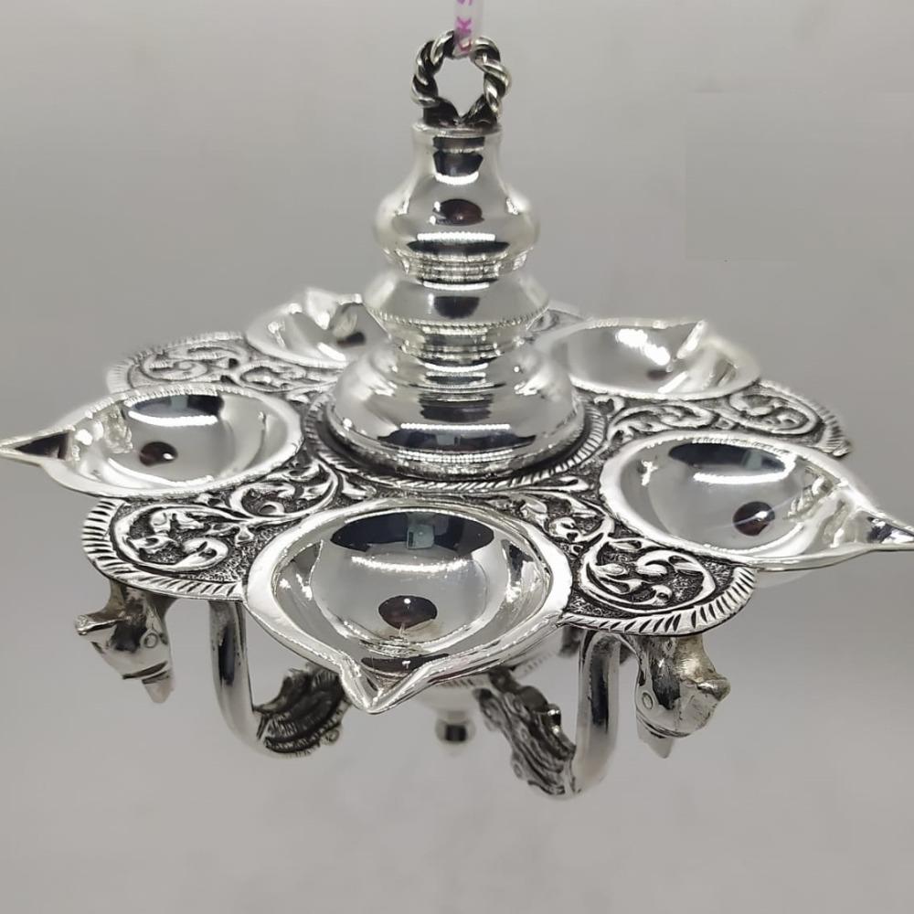 925 Pure Silver diya in Antique work PO-143-23