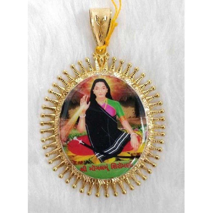 Gold photo mina kari gent's pendant