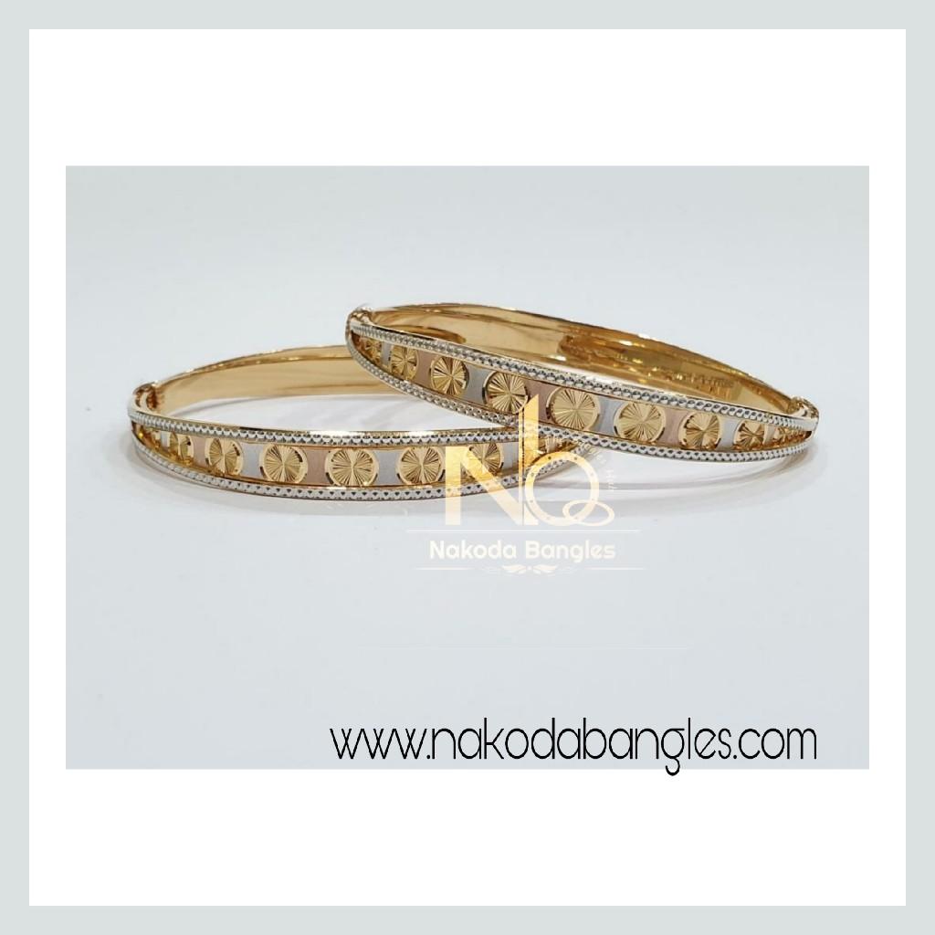 916 Gold CNC Bangles NB - 966