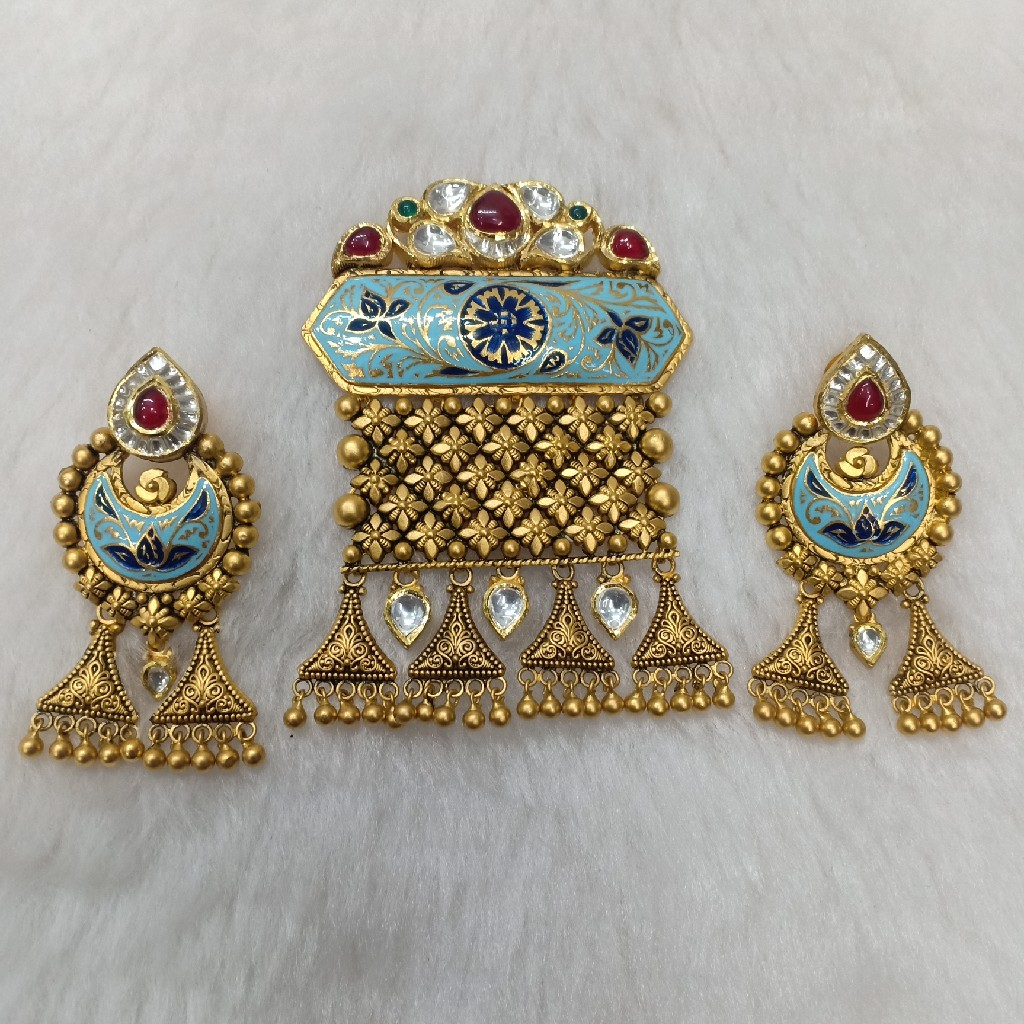 916 antique bridal pendant set