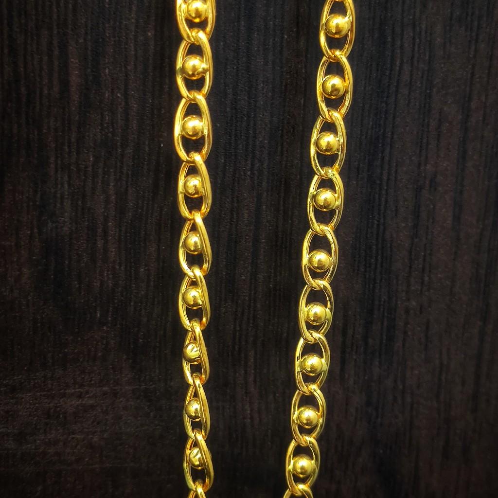 22 carat light weight gents chain