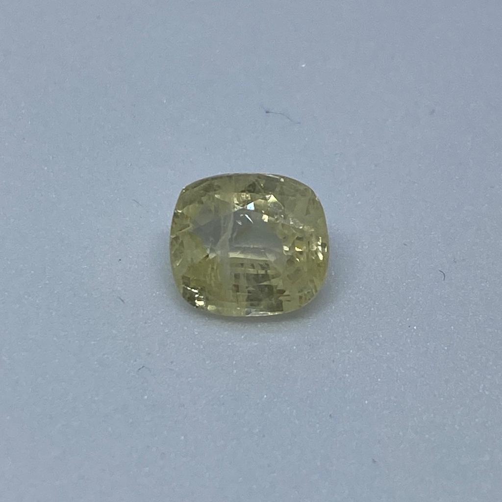 3.91ct cushion yellow yellow-sapphire-pukhraj