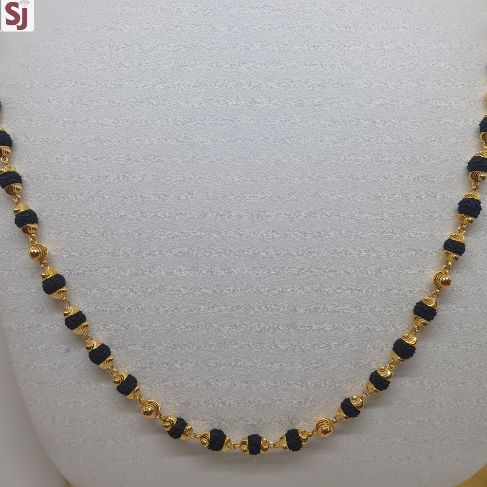 Rudraksh Mala Black RMG-0062 Gross Weight-19.210 Net Weight-16.570