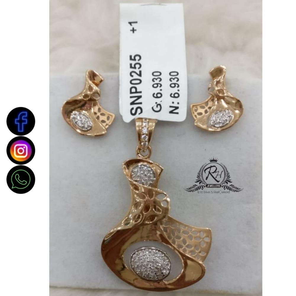 22 carat gold antique ladies earrings set RH-ER680