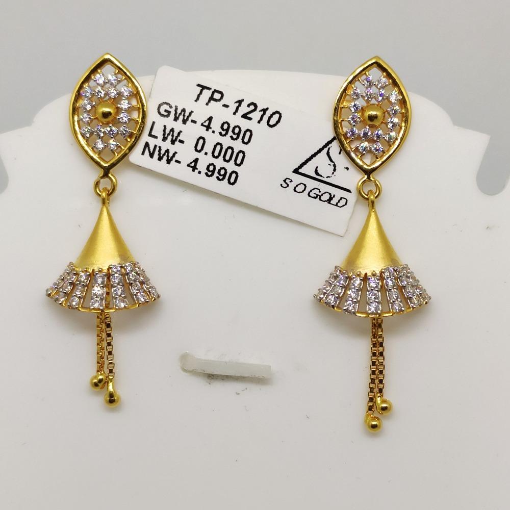 22KT Gold Latkan Earring SOG-E001