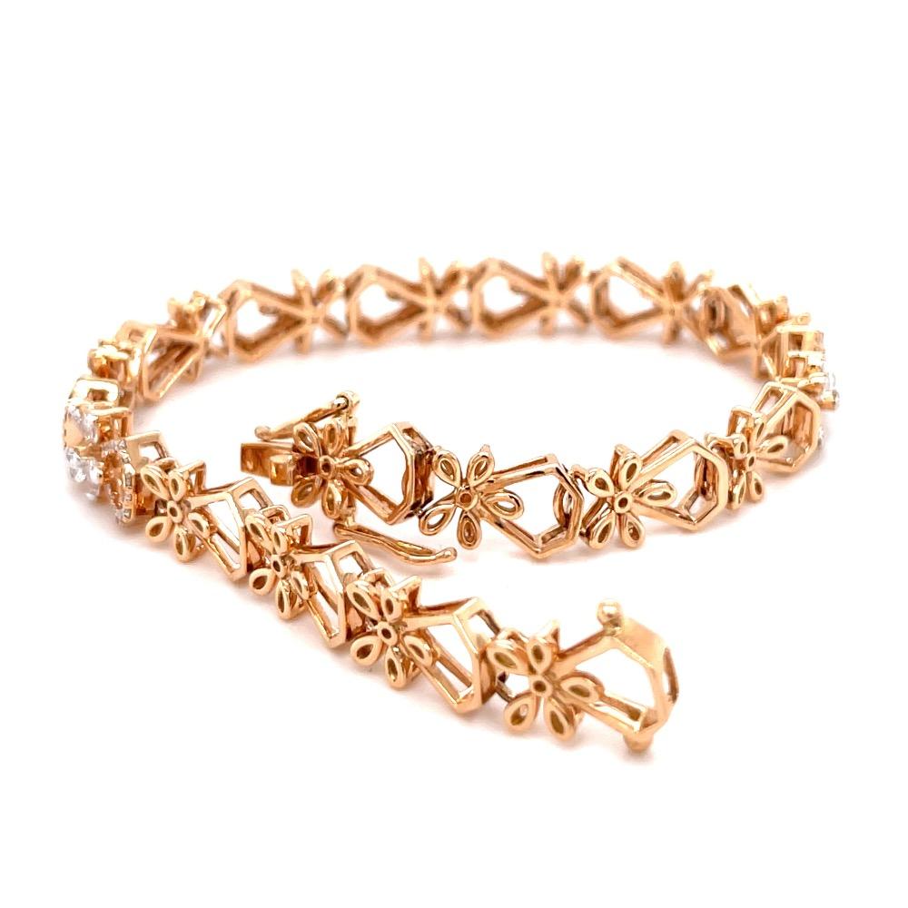Hermoso Flexible Tennis Bracelet in Diamonds for Evening Wear