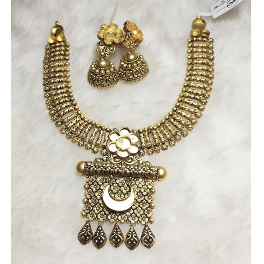 916 Gold Antique Khokha Necklace Set KG-N04