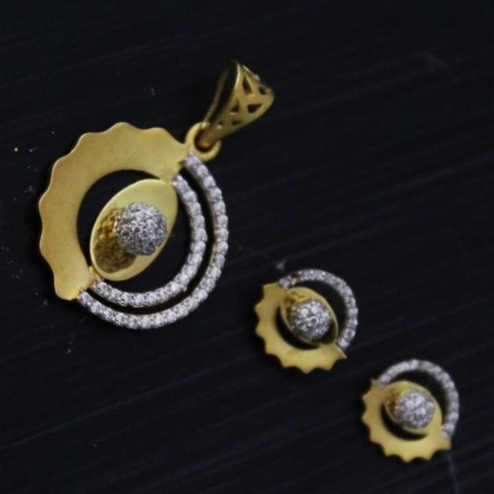 22 K Gold Pendant Set. nj-p01200
