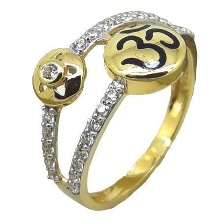 LADIES AD RING WITH OM