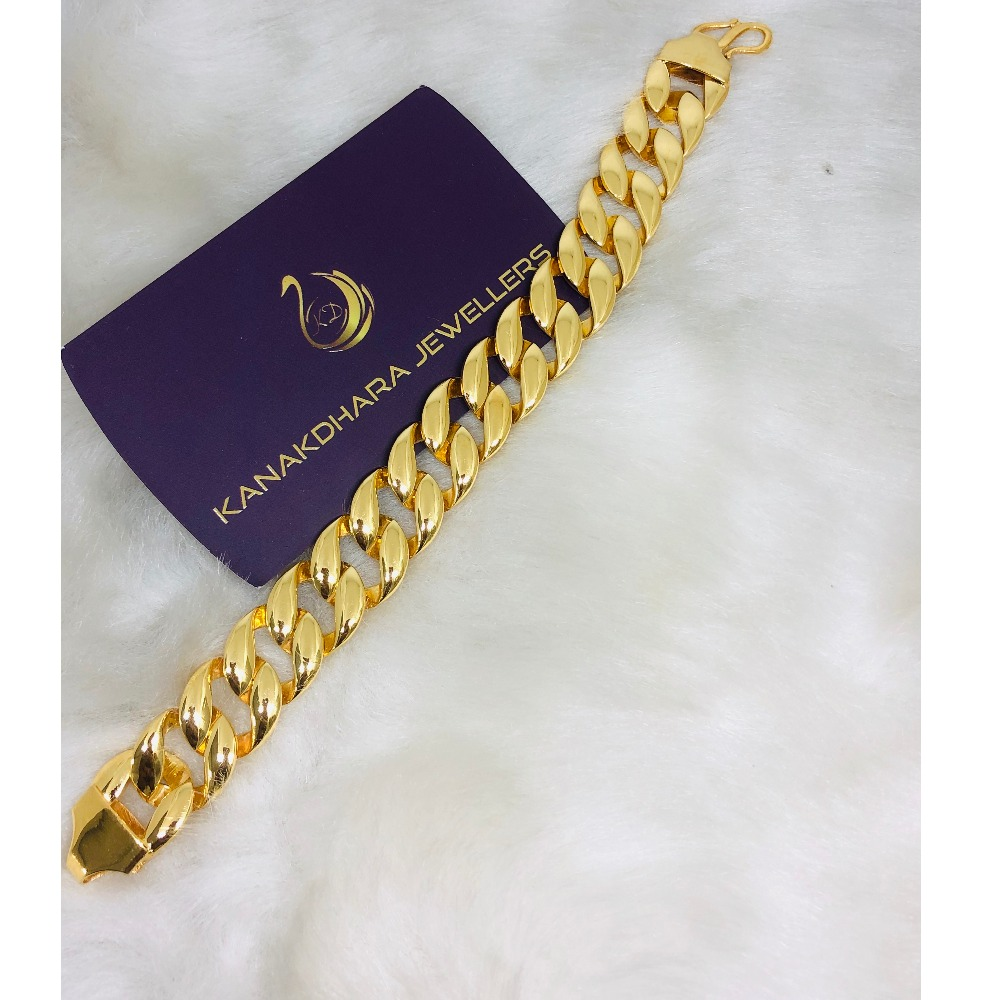 916 Gold Plain Casting Bracelet