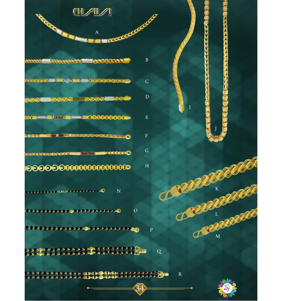 916 gold hendmet chain