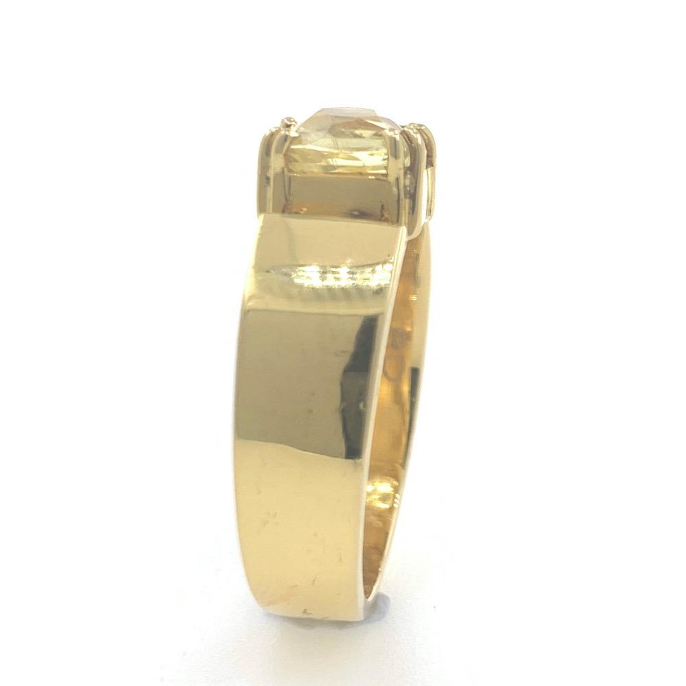 18kt / 750 yellow gold yellow sapphire plain ring 9gr25