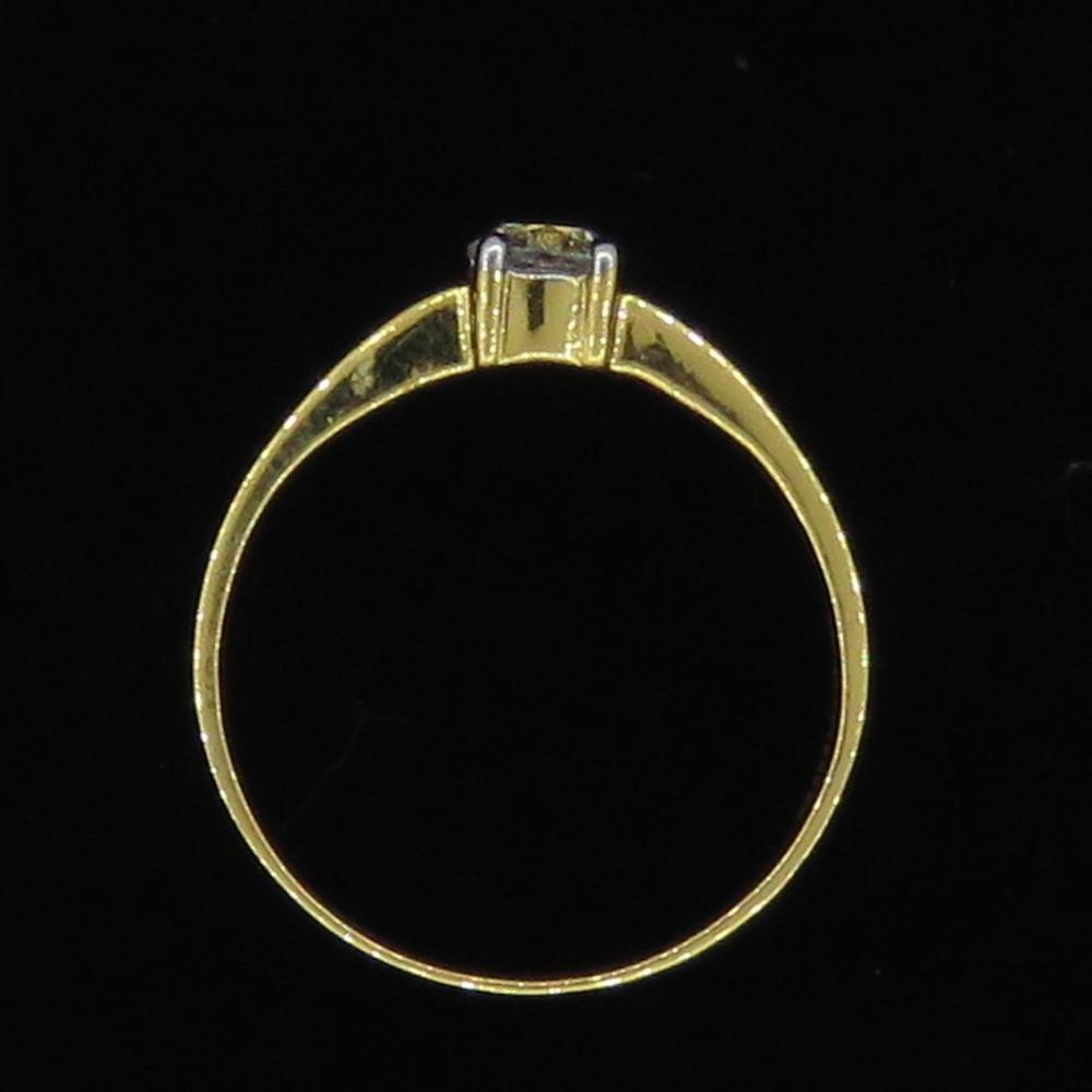 Gold Single Diamond Fancy Ring KJ-LR06