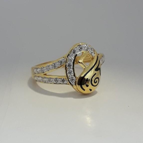 916 Gold carving ladies ring MJ-XO7053