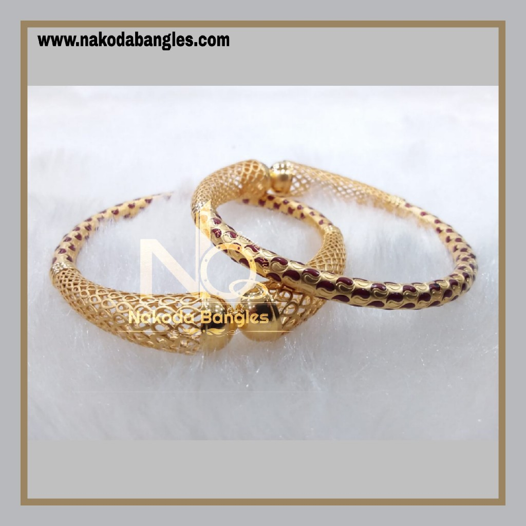 916 Gold Pipe Bangles NB - 883