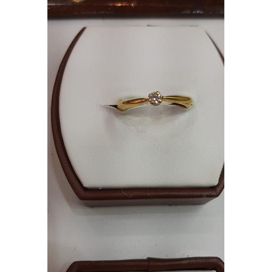 916 Gold Single Stone Ladies ring MJ-R016