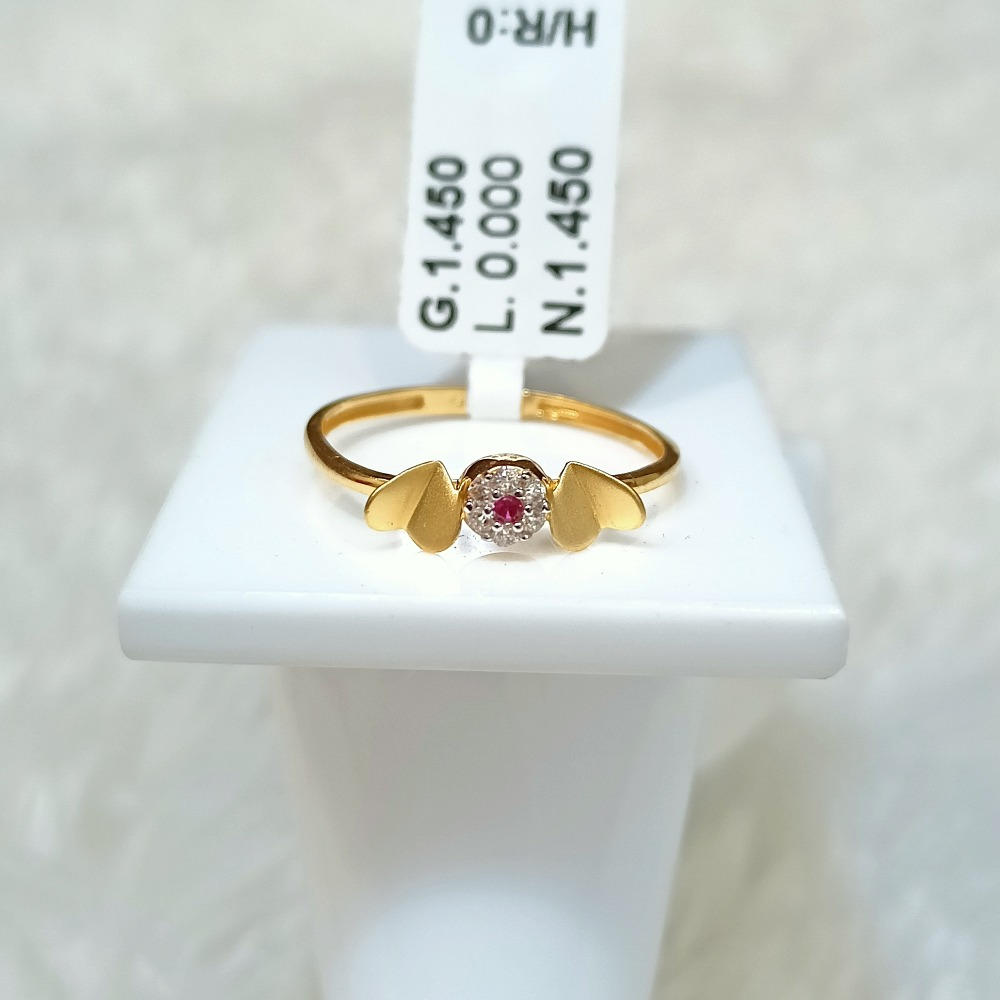 22 KT LOVE BIRD SHAPE RING