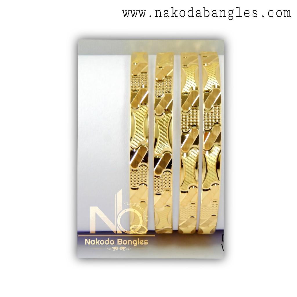 916 Gold CNC Bangles NB - 1318