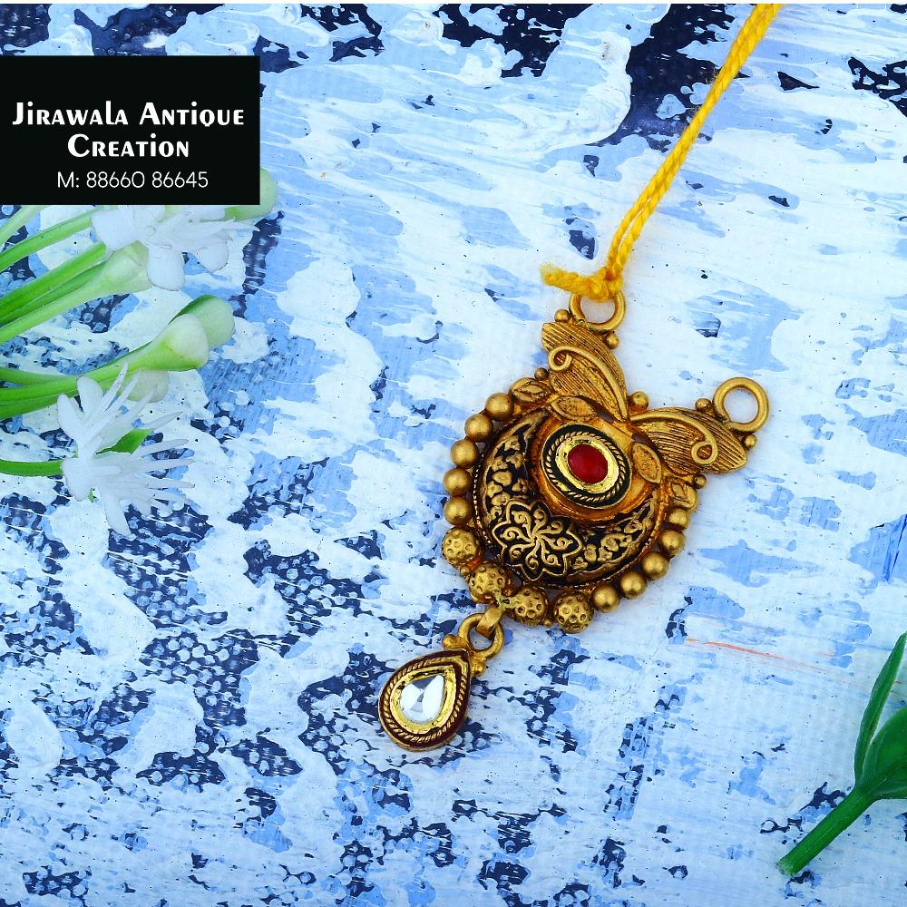 916 Gold Antique Jadtar Pendant JAP-013