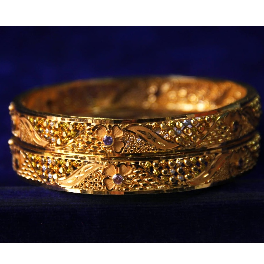 916 Gold Fancy Bangle SRN-B003