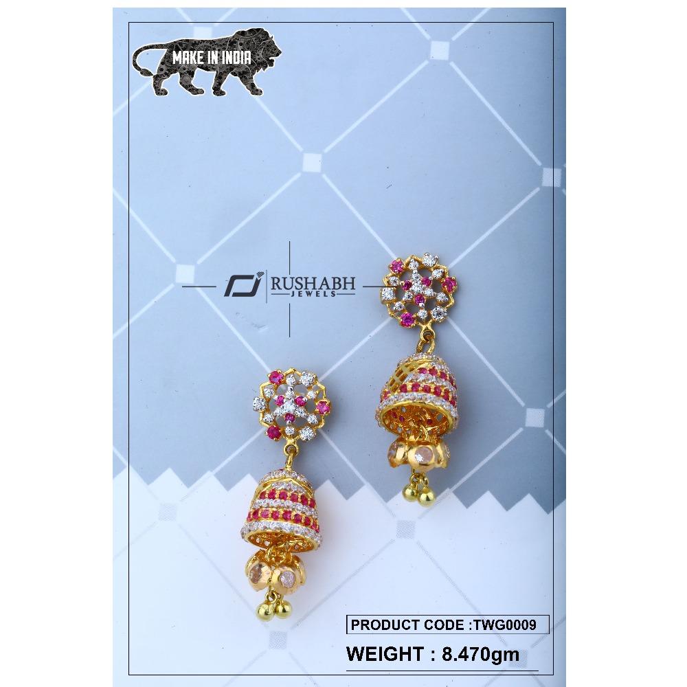 18 Carat Gold ladies zummer  tops  long earrings twg0009