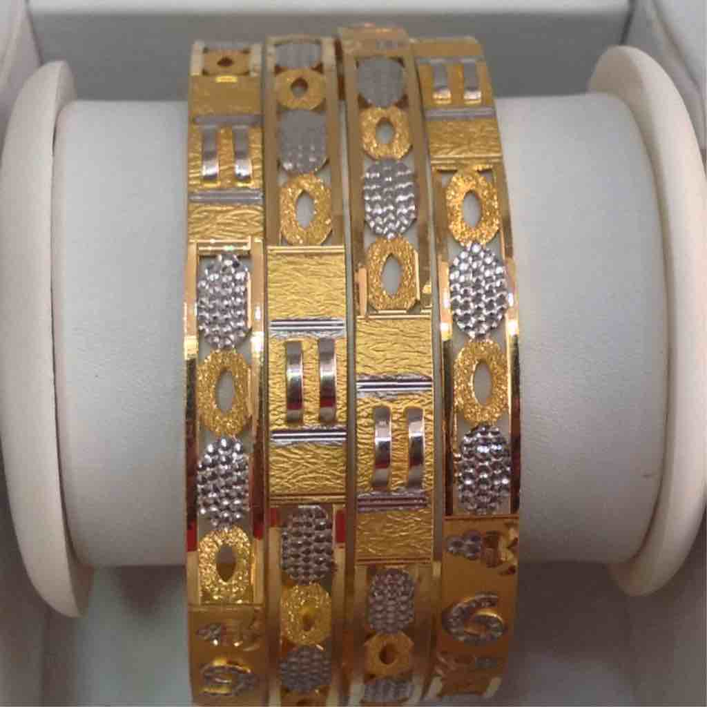 916 Gold 4PCs bangle Set