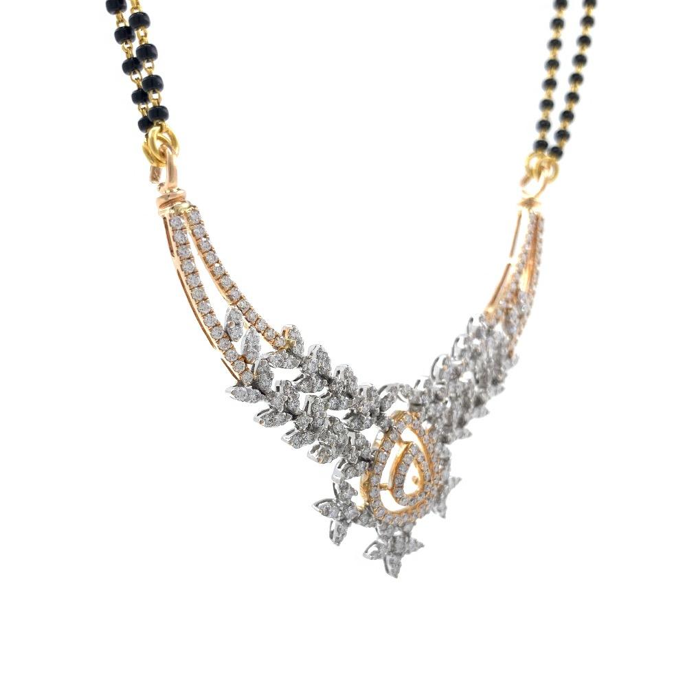 Leaf & drop inspired diamond tanmaniya 1.86 carats 7dhp48
