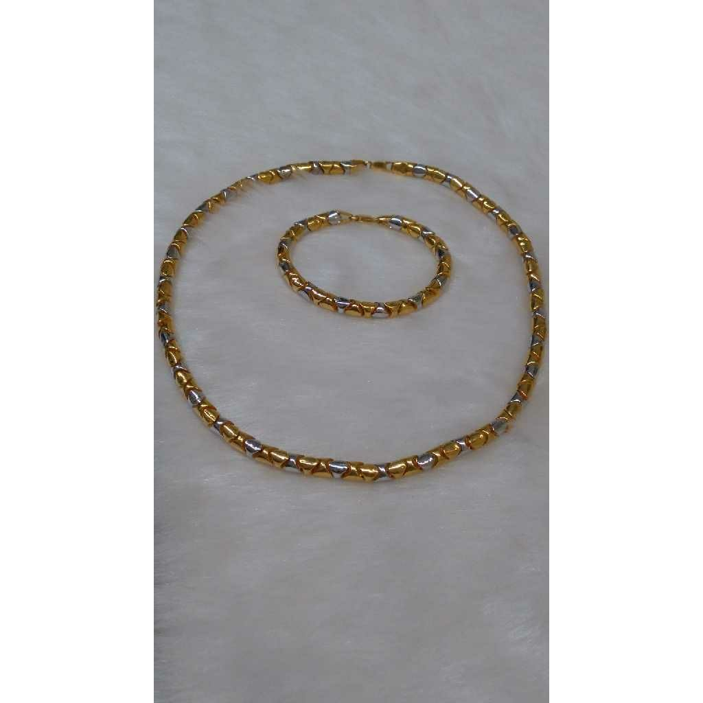 22KT Gold Fancy Chain lucky set