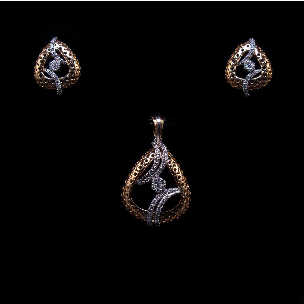 18k  gold diamond delicate pendant set agj-ps-190