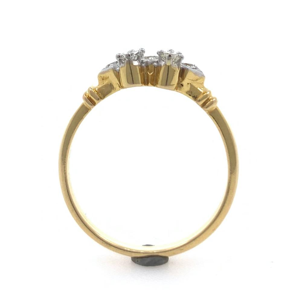 18kt / 750 Yellow Gold Classic Diamond Ladies Ring 9LR198