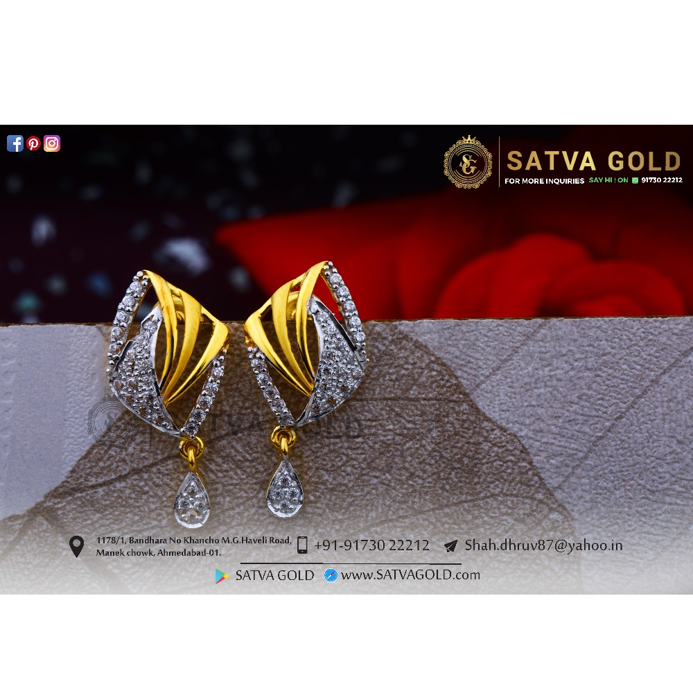 916 gold earrings sge-0039