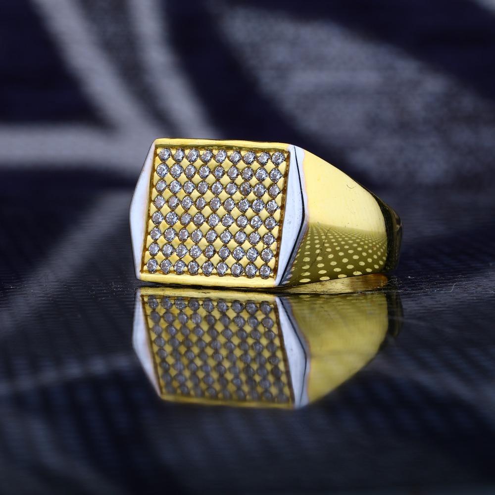 22Kt Gold Fancy Gents Ring RJ-R05