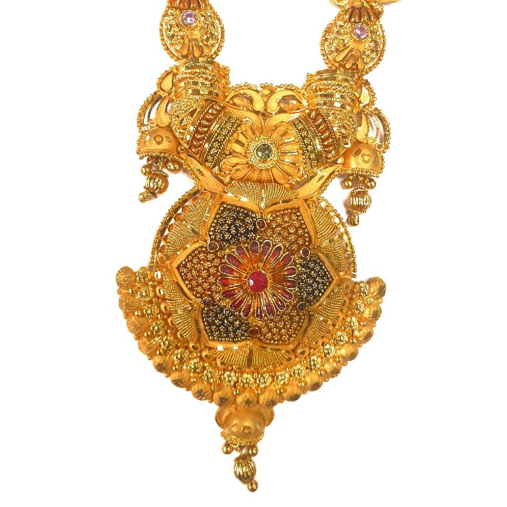 1 gram gold forming necklace set mga - gfn0017
