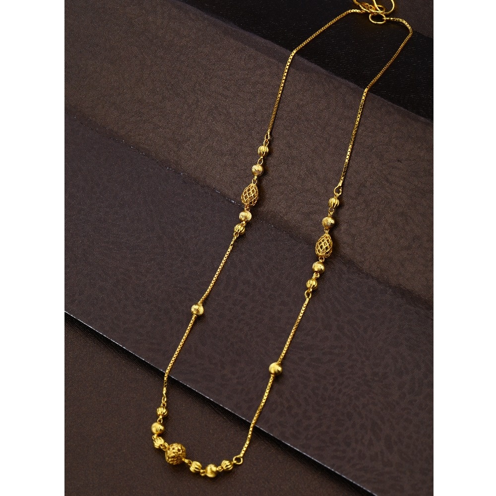 22KT Gold Antique Mala