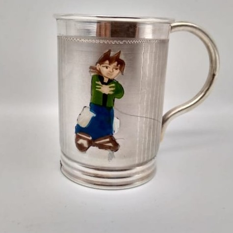 Silver Milk Mug For Kids PJM001