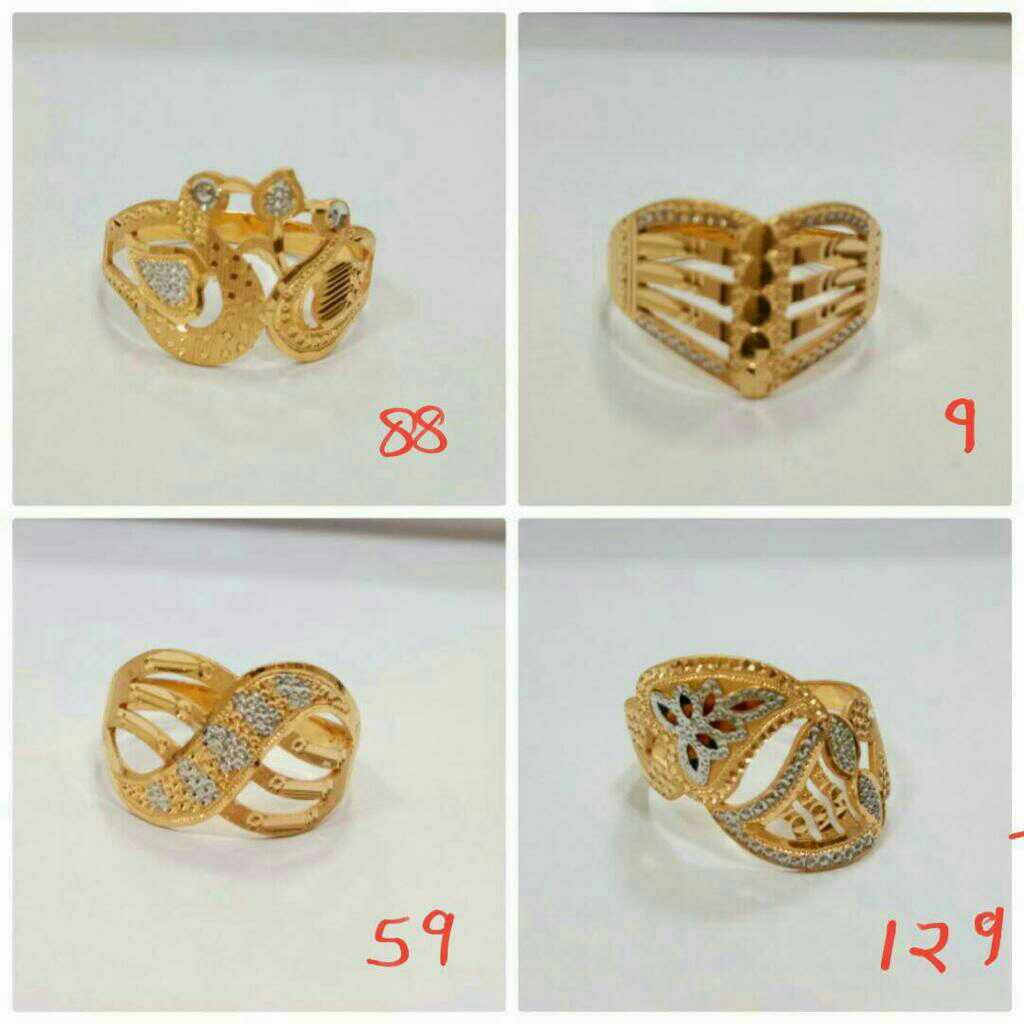 22kt gold party wear ladies ring